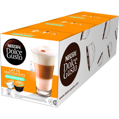 Image of Dolce Gusto Latte Macchiato Unsweetened 3 pack