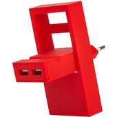 USBEPOWER Thuislader 2 USB poorten 2,1 A Rood