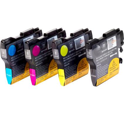 Huismerk LC-1100 XL 4-Kleuren Pack voor Brother printers (LC-1100HYVALBP)