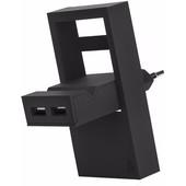 USBEPOWER Thuislader 2 USB poorten 2,1 A Zwart