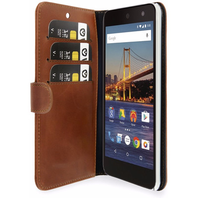 Valenta Classic Luxe General Mobile AndroidOne GM5 Plus Book Case Bruin