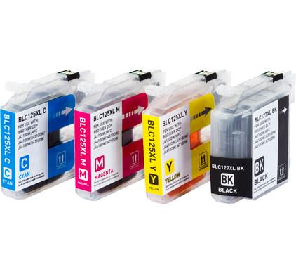 Huismerk LC-127 XL 4-Kleuren Pack voor Brother printers (LC-127XLVALBP)