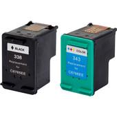 Huismerk 338/343 4-Kleuren voor HP printers (SD449EE)