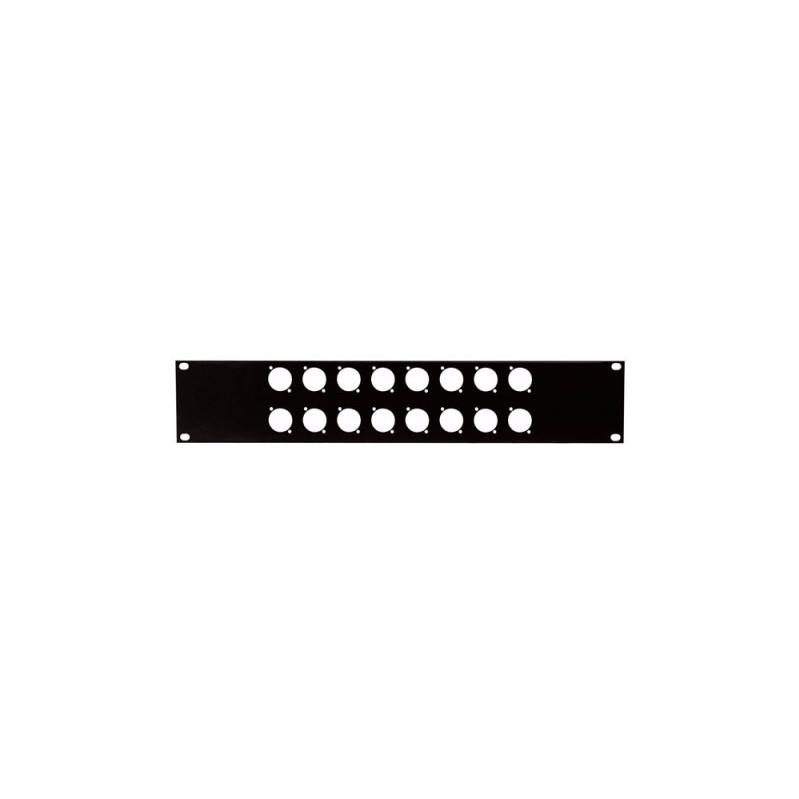 DAP 19 inch Connector-paneel d-size met 16 x XLR
