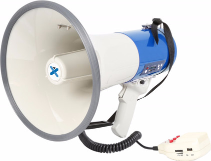 Vexus MEG060 Megafoon 60W Wit/Blauw