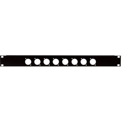 Image of DAP 19 inch rackpaneel 8x D-hole 1HE