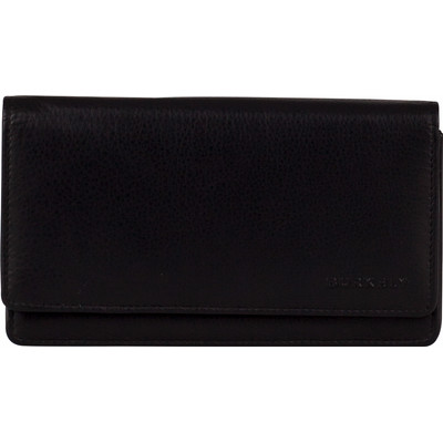 Image of Burkely Classic Collin Wallet Flap Over 3 Black
