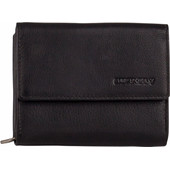 Burkely Classic Collin Wallet Zip Front-Back Black