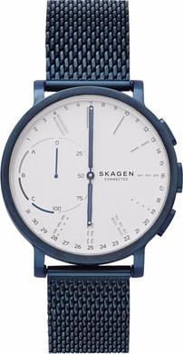 Skagen Hagen Connected Hybrid Roestvrij Staal Donkerblauw