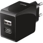 Trust Urban Thuislader USB-C + USB 5,4A Zwart