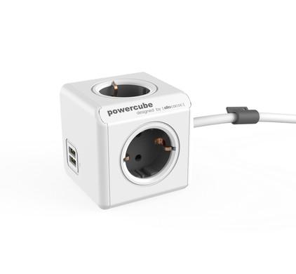 PowerCube USB 4-voudige stekkerdoos 1,5m BE