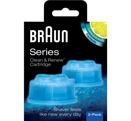 Braun Reinigingsvloeistof Clean & Renew (2 stuks)