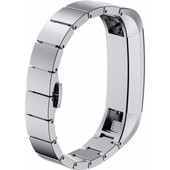 Just in Case RVS Polsband Fitbit Alta Zilver