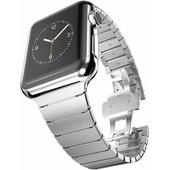 Just in Case 316L RVS Polsband Apple Watch 42mm Zilver