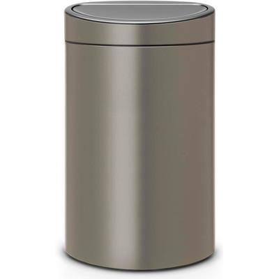 Image of Brabantia Afvalverzamelaar Touch Bin 40 Liter Platinum