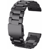 Just in Case RVS Polsband Garmin Fenix 3/3 HR Zwart