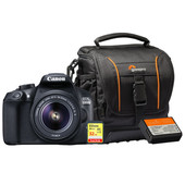 Starterskit - Canon EOS 1300D + 18-55mm IS II + Geheugenkaart + Tas + Extra Accu