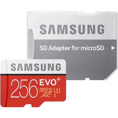 Samsung Evo + 256 GB micro SD class 10 with adaptor