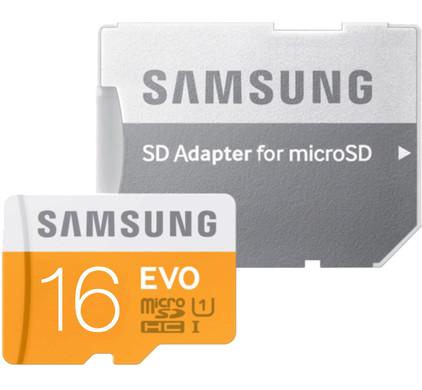 Samsung microSDHC Evo 16 GB Class 10 + SD Adapter