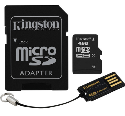 Kingston Micro SDHC 4GB Mobility Kit
