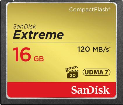Sandisk CF Extreme 16GB 120mb/s