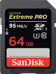 Sandisk SDXC Extreme Pro 64GB 95MB/S Class 10