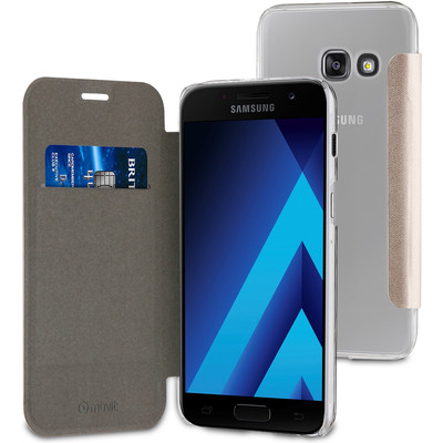 Muvit Folio Samsung Galaxy A3 (2017) Book Case Goud