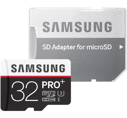 Samsung microSDHC Pro Plus 32 GB Class 10 + SD Adapter