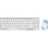Rapoo 9060 WH-N Wireless Optical Combo Qwerty Wit