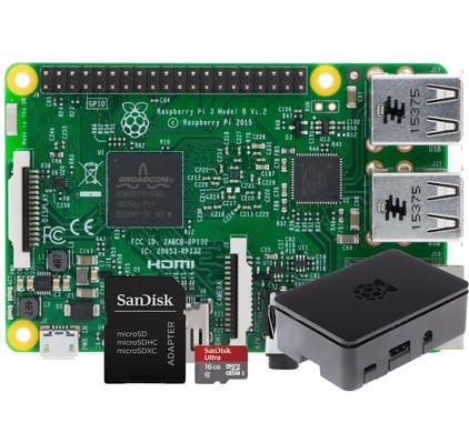 Raspberry Pi 3 + Behuizing + Micro SD