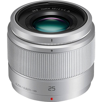 Panasonic Lumix G 25mm f/1.7 zilver