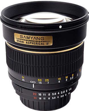 Samyang 85mm f/1.4 Aspherical IF MC Canon