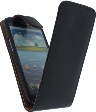 Xccess Leather Flip Case Samsung Galaxy S III Zwart
