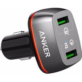 Anker PowerDrive Quick Charge Autolader Zwart