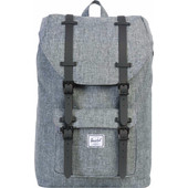 Herschel Little America Mid-Volume Raven Crosshatch/Black Ru