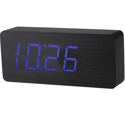 Gingko Slab Click Clock Zwart