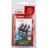 Canon CLI-521 CMY Color Value Pack (2934B010)