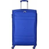 Delsey Indiscrete Soft 4 Wheel Trolley Case 78cm Light Blue