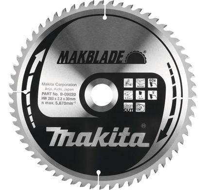 Makita Zaagblad Hout 260x30x2,3 80T