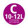 visual leverancier Afvalzak Code C - 10-12 Liter (20 stuks)