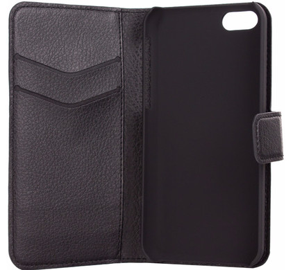 Xqisit Slim Wallet Case Apple iPhone 5C Zwart