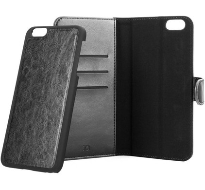 Xqisit Wallet Case Eman Apple iPhone 6 Plus/6s Plus Zwart