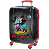 Mickey Mouse Retro Comic Black ABS 4 Wheel Trolley