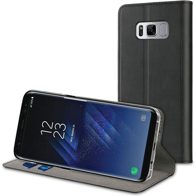 Muvit Folio Stand Samsung Galaxy S8 Book Case Zwart