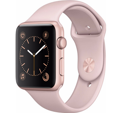 Apple Watch Series 1 42mm Rosegoud Aluminium/Rozenkwarts Sportband