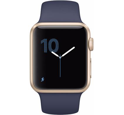 Apple Watch Series 1 42mm Goud Aluminium/Middernachtblauwe Sportband