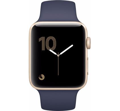 Apple Watch Series 2 42mm Goud Aluminium/Middernachtblauwe Sportband