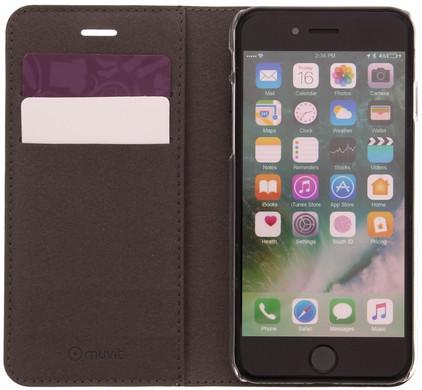 Muvit Folio Stand Apple iPhone 7 Book Case Zwart