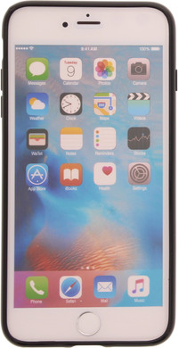 Muvit Frame Apple iPhone 7 Plus Back Cover Zwart