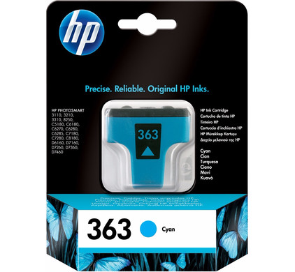 HP 363 Cartridge Cyaan (C8771EE)